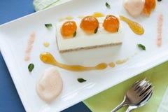 Mandarin Cheese Cake Stock Photo