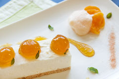 Mandarin Cheese Cake Stock Photography