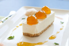 Mandarin Cheese Cake Stock Photos