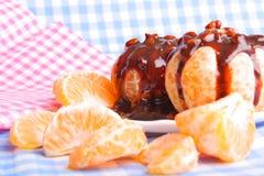 Mandarin and chocolate Royalty Free Stock Photo