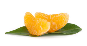 Mandarin citrus fruit slices Stock Photo