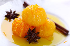 Mandarin dessert with star anise Stock Photography
