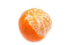 Mandarin die tot de helft wordt schoongemaakt Royalty-vrije Stock Afbeeldingen