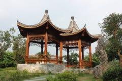 Mandarin Ducks Pavilion Royalty Free Stock Photo