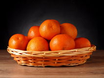 Mandarin. Fruit tangerine orange in a basket Stock Images
