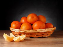 Mandarin. Fruit tangerine orange in a basket Stock Photography