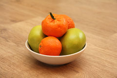 Mandarin fruits Stock Images
