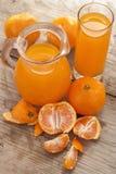 Mandarin fruits with juice Stock Photos
