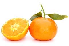 Mandarin and half Royalty Free Stock Photo