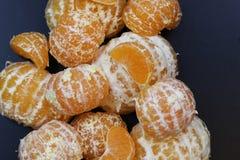 Mandarin het fruit isoleert zwarte Royalty-vrije Stock Fotografie