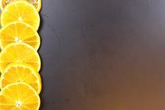 Mandarin het fruit isoleert zwarte Stock Foto's