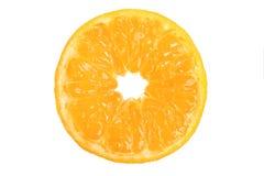 Mandarin i ett snitt Arkivfoto