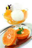 Mandarin ice cream Royalty Free Stock Photo