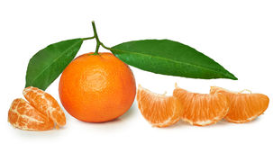 Mandarin isolated Royalty Free Stock Image