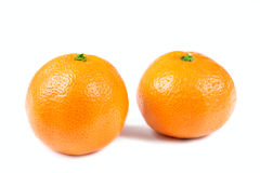 Mandarin isolated over white Royalty Free Stock Photography