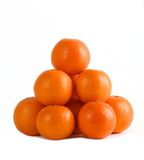 Mandarin isolated on white background, pyramid of mandarins on white background, stack of mandarins.Exotic tropical fruits Stock Image