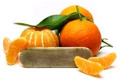 Mandarin isolated on white background. Stock Image