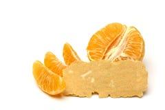 Mandarin isolated on white background. Stock Photo