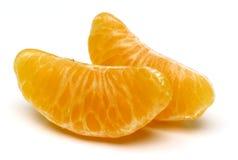 Mandarin isolated on white background. Royalty Free Stock Photo