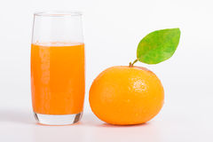 Mandarin juice Stock Images