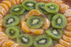 Mandarin and kiwi tart Stock Photos