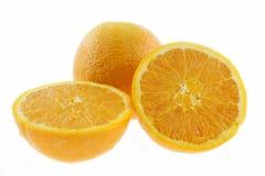 Mandarin lemon and white. Background Royalty Free Stock Photo
