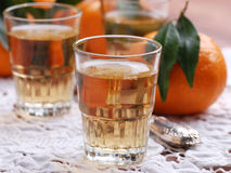 Mandarin likeur Stock Afbeeldingen
