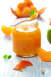 Mandarin and lime jam Stock Photo