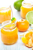 Mandarin and lime marmalade Stock Photos