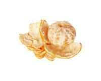 Mandarin met gezuiverde schil Royalty-vrije Stock Foto