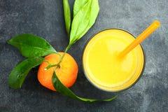 Mandarin och fruktsaft Arkivfoton