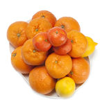 Mandarin and orange Royalty Free Stock Image