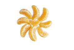 Mandarin orange. Over white Stock Photo