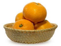 Mandarin orange in the basket Royalty Free Stock Photos