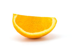 Mandarin orange citrus fruit slice on white background Stock Photography