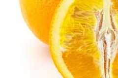 Mandarin orange citrus fruit slice on white background Stock Image