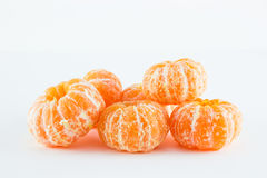 Mandarin orange, Citrus reticulata. On white background Royalty Free Stock Photo