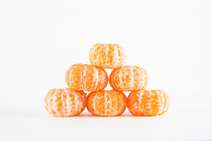 Mandarin orange, Citrus reticulata. On white background Stock Image
