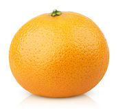 Mandarin Orange fruit (Tangerine) isolated on white Royalty Free Stock Photo