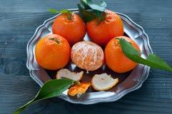 Mandarin orange fruit typical of winter Royalty Free Stock Images