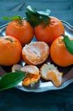 Mandarin orange fruit typical of winter Stock Photos