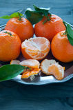 Mandarin orange fruit typical of winter Stock Photo