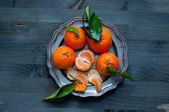 Mandarin orange fruit typical of winter Royalty Free Stock Photo