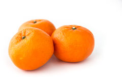 Mandarin orange. Group of mandarin orange on the fabric background Stock Photography