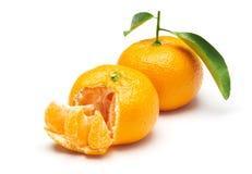 Mandarin orange isolated on white background Stock Photo