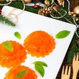 Mandarin Orange Jelly royalty free stock images