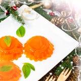 Mandarin Orange Jelly stock photos