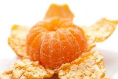 Mandarin orange peeled Stock Photography