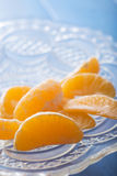Mandarin orange sections Stock Image