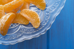Mandarin orange sections Royalty Free Stock Image